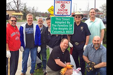 Knights of Columbus - Road Cleanup