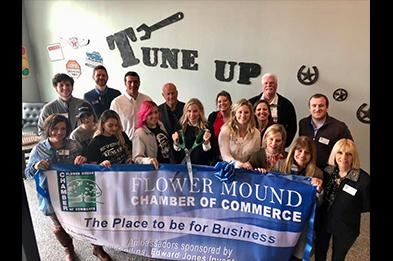 Flower Mounder Chamber of Commerce - Ribbon Cutting for Tune Up the Manly Salon
