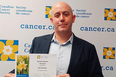 Canadian Cancer Society - Service Award